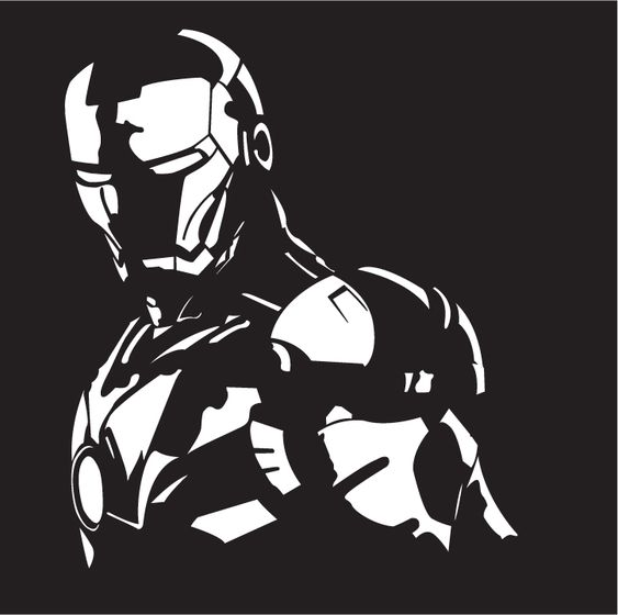 ironman vector drawing by tromano89 silhouette