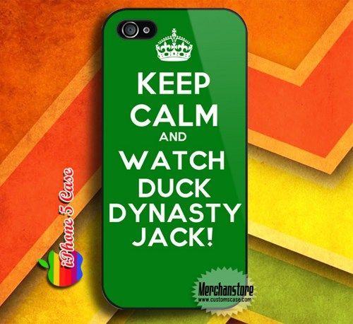 Keep Calm and Watch Duck Dynasty Custom iPhone 5 Case Cover | Merchanstore - Accessories on ArtFire