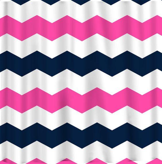 Curtains Ideas chevron stripe shower curtain : Custom Chevron Shower Curtain - Extra Wide 6 inch stripes ...