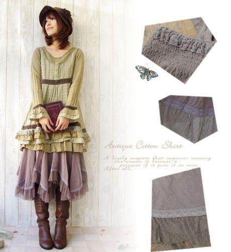 New-Japanese-Cotton-Lace-irregularity-Mori-Girl-Wommens-Retro-Long-Skirt-34