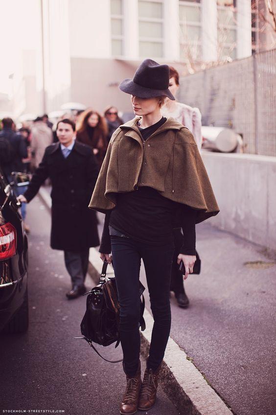 la modella mafia Fall 2012 fashion Trend - model street style Melissa Tammerijn