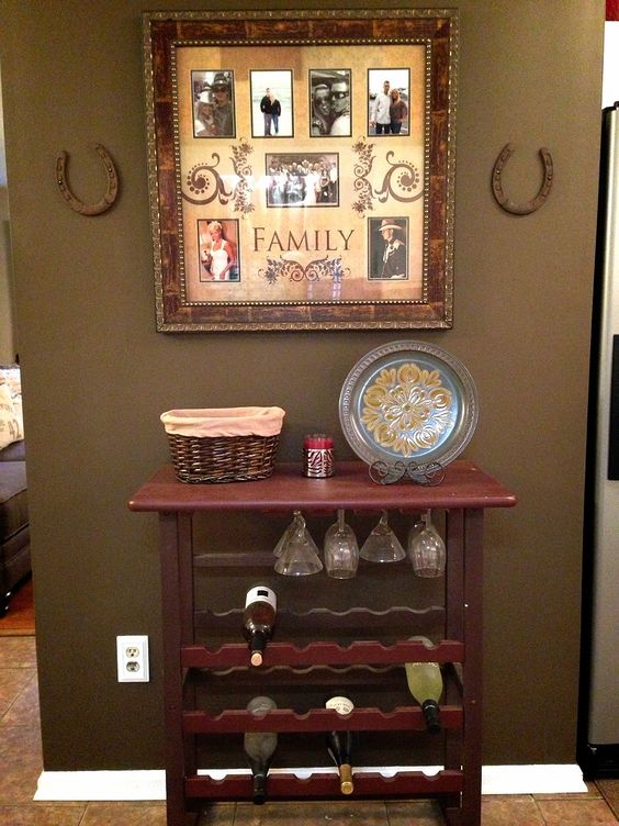 Refinished hand painted wine rack diy kitchen country for Wine country decorating style