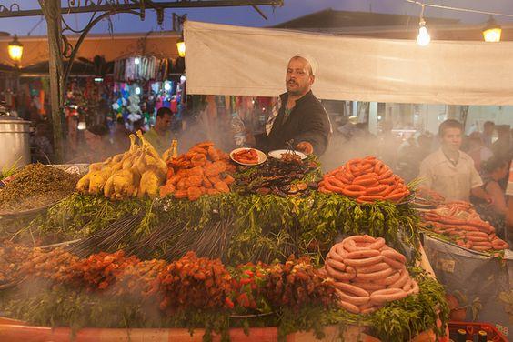 世界遺産 屋台 マラケシュ旧市街の絶景写真画像  モロッコ