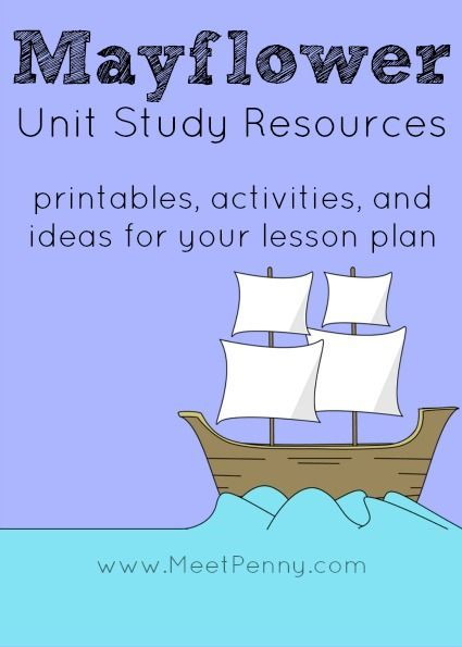 Loads of possibilities! Mayflower Unit Study Resources to help create your lesson plan