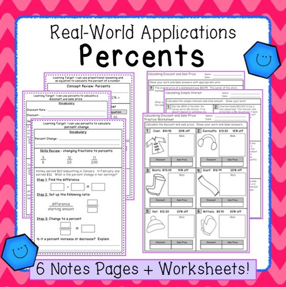 Percent Applications Interactive Notes and Practice Pages 7RP – Percent Error Worksheet