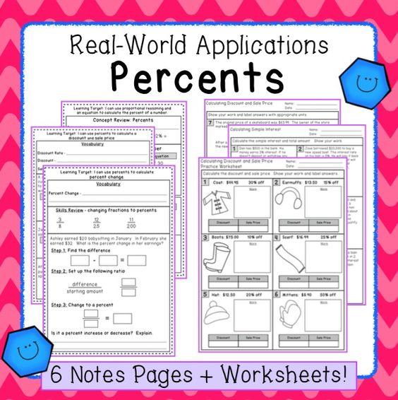 Percent Applications Worksheet – Percent Applications Worksheet