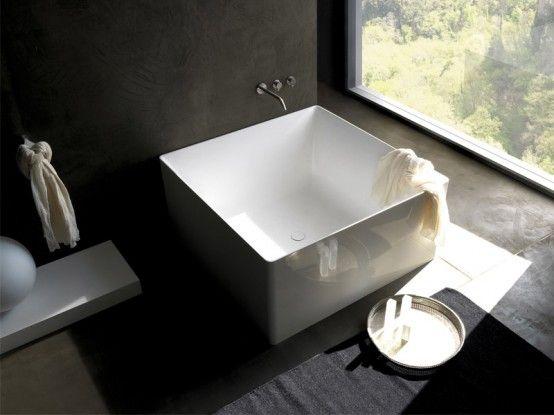 our  tub - square japanese soaking bath tub.