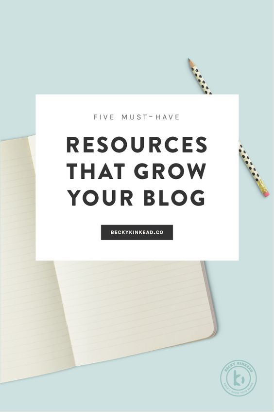 5 tools and resources for growing your blog. Click to read more or pin & save for later!