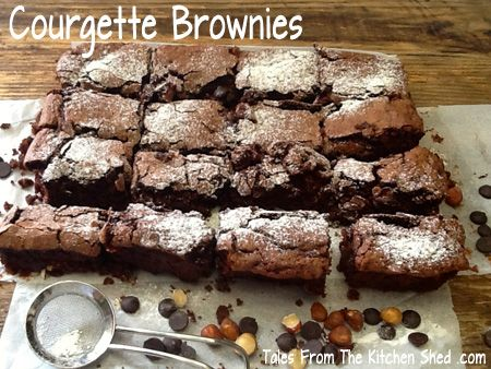 Super moist delicious decadent brownies with a secret ingredient – courgettes / zucchini !