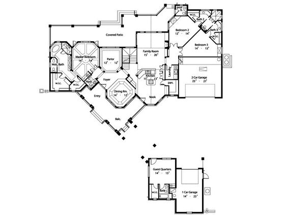 The HousePlan Shop angled porte cochere House plans Pinterest