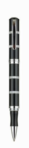 "MONTEVERDE ""Regatta Americana"" Black & Chrome Rollerball Pen; BNIB; Ref: MV41328 - £54.75 - FREE SHIPPING WORLDWIDE"