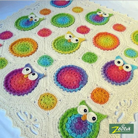 Free Crochet Pattern For Owl Baby Blanket : owl blanket for baby Home > Baby Blankets > Owl Baby ...