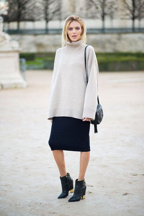 Knits aren't just for tops and sweaters—try a pencil-skirt version too!