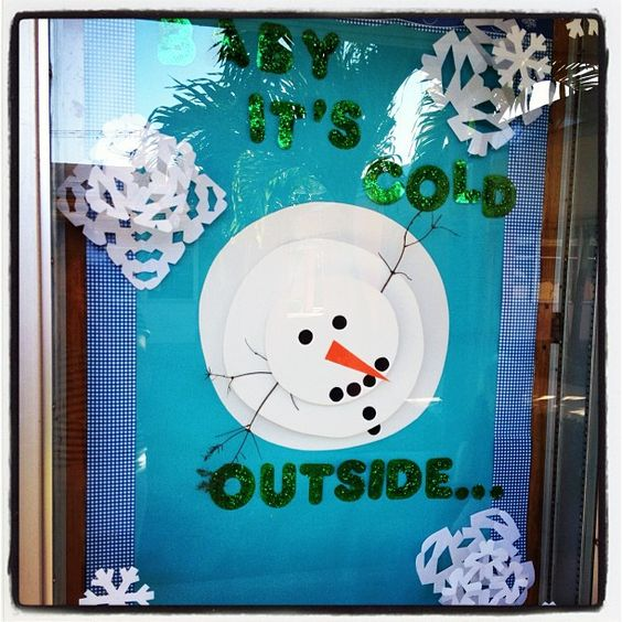 Snowman 3d and classroom on pinterest for 3d snowman door decoration
