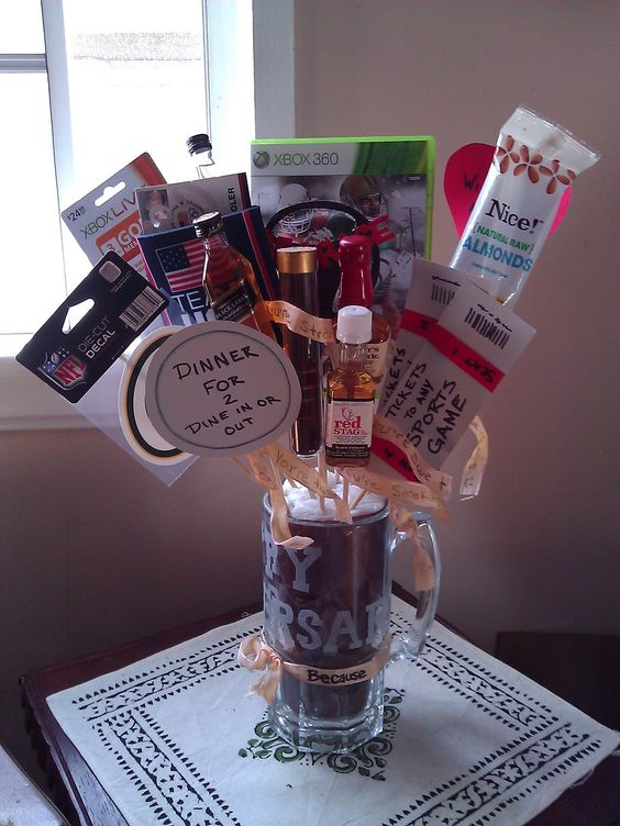 Wedding Anniversary Gift Ideas For Guys : year anniversary, Guy gifts and Men gift baskets on Pinterest