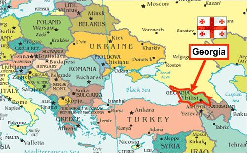 where is georgia in europe map Georgia Map Europe | Georgia map, Georgia country, Europe map