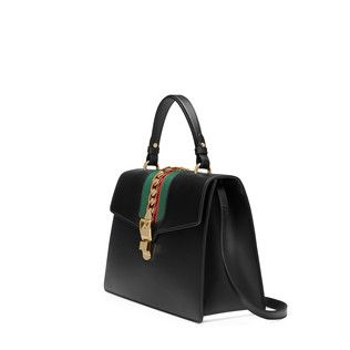 celine leather handbags - Gucci Sylvie leather top handle bag | What's in your bag ...