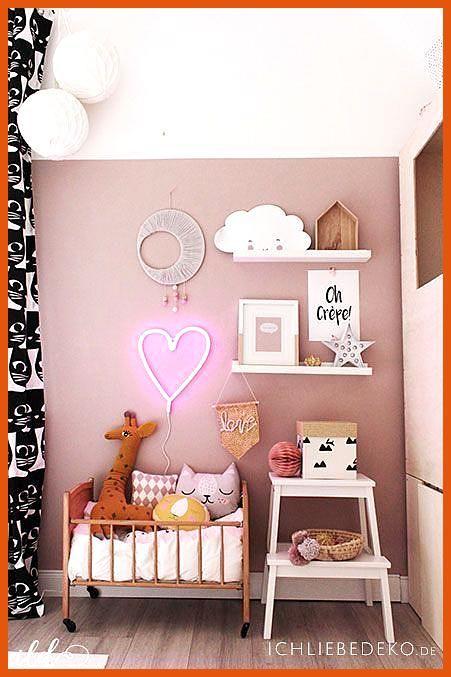 Stylisches Kinderzimmer F R M Dchen Dans Altrosa Et Senfgelb Neonherz Von Litt Kidsroom Trendige Dek Kinderzimmer Fur Madchen Kinderzimmer Farbe Kinder Zimmer
