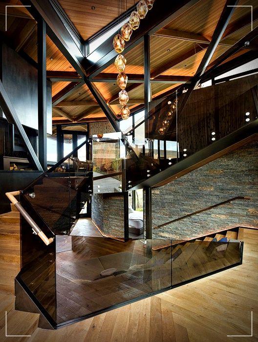 Diseno De Casa Moderno Y Natural Con Utilizacion De Estructura