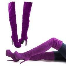 Purple Thigh high Boots!!! | These Boots Are Made For Walkin ...