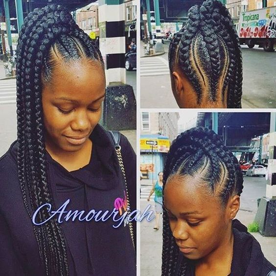 different braid styles for hair this braided ponytail so neat and different 6617
