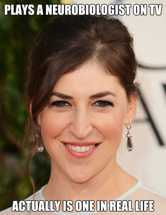 This is one of my favorite characters on television. Mayim Bialik, who plays Amy on The Big Bang Theory, provides a great example of how a female can break the stereotypes society has placed on woman. And what's even better, Mayim actually is a scientist!
