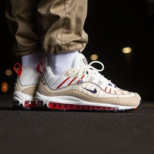 nike air max 98 sail court purple light cream