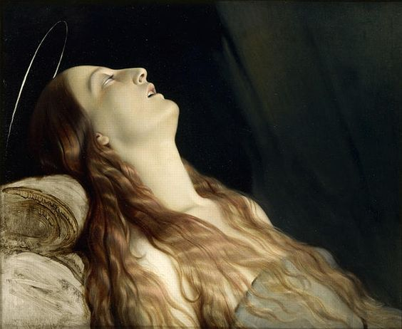 Louise Vernet on Her Death Bed  Paul Delaroche