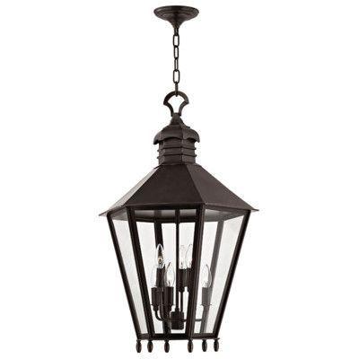 Hudson Valley Lighting Barstow 6 Light Outdoor Hanging Lantern Finish:
