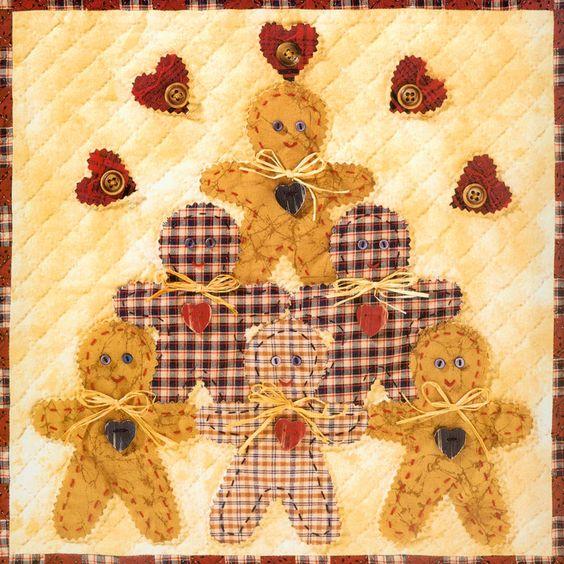 Gingerbread House Quilt Pattern Free : gingerbread man quilt blocks - Google Search Quilt Blocks Pinterest Free pattern, Cheer ...