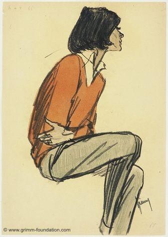Gerd Grimm, Sitzendes Mädchen 1961