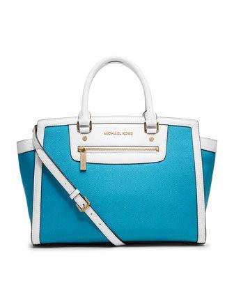 MICHAEL Michael Kors Large Selma Top-Zip Satchel. Oh this just screams summer! Handbags FindHandbags ShopHandbags ...
