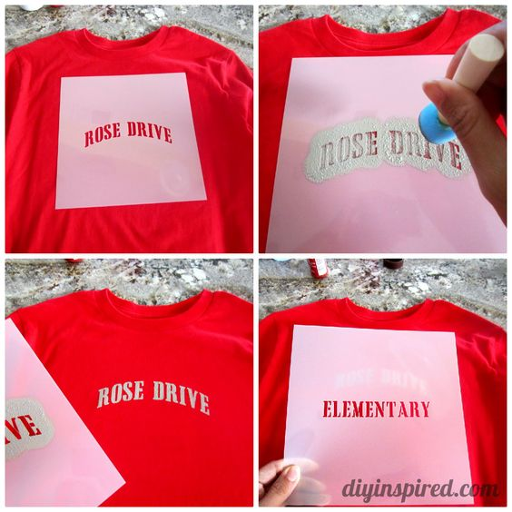 Diy Stenciled School Spirit Shirts This Would Be Fun For