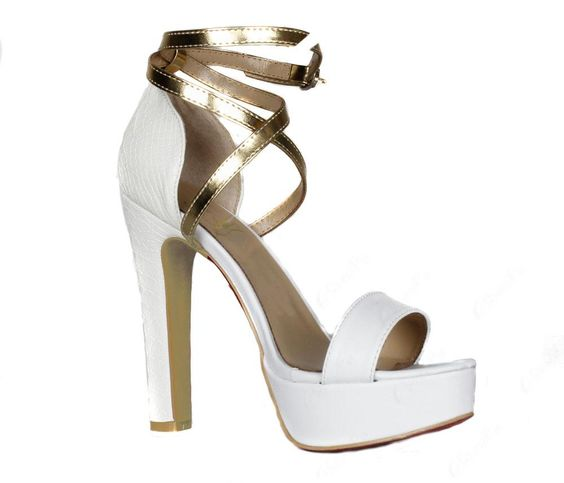Exquisite White Chunky Heels Women Pumps, Pumps