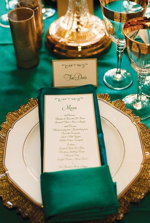 Emerald and Gold Wedding