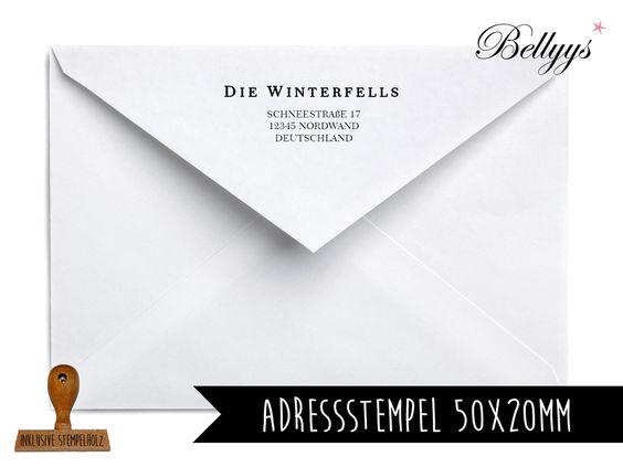 Adressstempel von Bellyys -  Stempel - Design Unikate - Geschenkanhänger und vieles mehr...  auf DaWanda.com