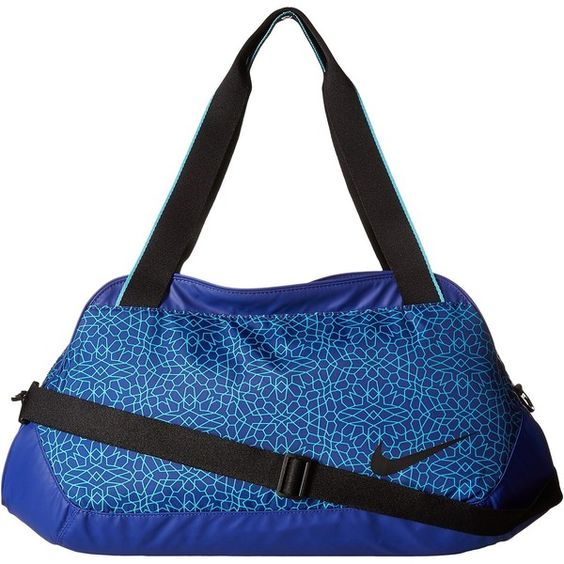 Nike Legend Club Print (Deep Royal Blue/Omega Blue/Black) Duffel Bags (£43) ❤ liked on Polyvore featuring bags, luggage and blue