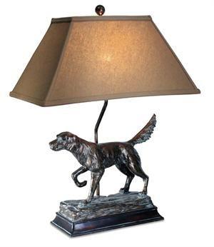 """Hunting Dog Lamp 28""""H 3-way socket"""