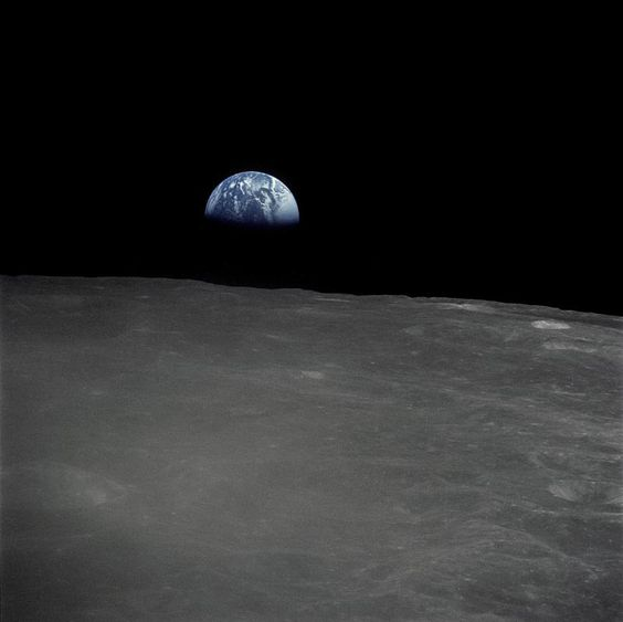 earth rise from the dark side of the moon