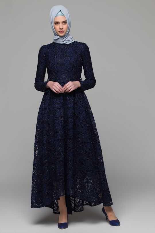 Armine Dantelli Tesettur Abiye Elbise Modelleri Moda Tesettur Giyim 2020 Elbise Modelleri Elbise Giyim