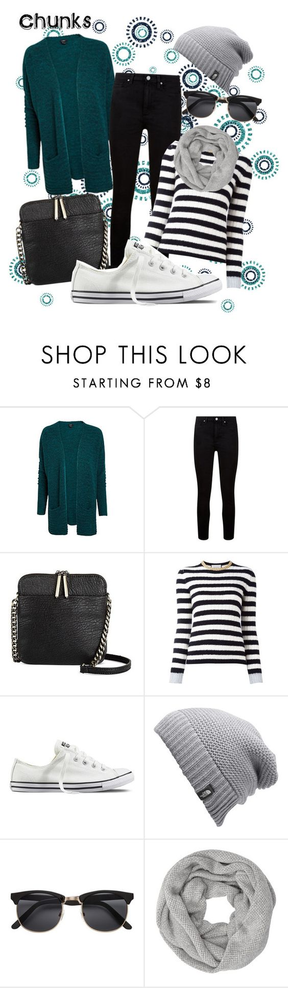 """Chunks"" by sana-emara ❤ liked on Polyvore featuring Paige Denim, Miztique, Gucci, Converse, The North Face, H&M and John Lewis"