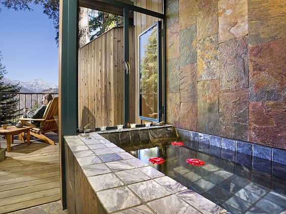 Post Ranch Inn: Spa Suite.  The only thing better than an outdoor shower is an outdoor bathtub.