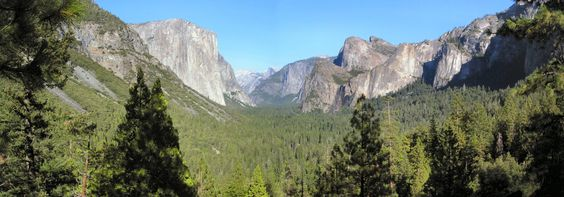 https://flic.kr/p/YtvVb | Yosemite valley | tunnel View, Yosemite valley,  El capitan(big rock left) & half dome in faint distance(centre).   you have to go see this for yourself, amazing !