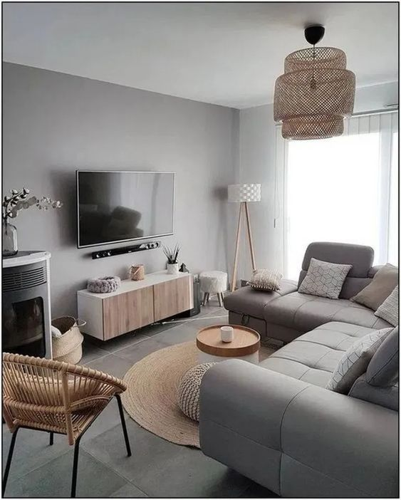 √25 Best Gray Living Room Design Ideas For Your Apartment #livingroomdesign #livingroomdecor #graylivingroom – Calnorth.com