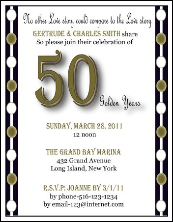 50 anniversary invitations | 50th Anniversary Invitations|Anniversary Party Invitations