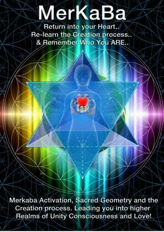 Merkaba: Return into you Heart..Re-learn the Creation process..and remember who you ARE. Merkaba Activation, Sacred Geometry and the Creation Process. Leading you into higher realms of Unity Consciousness and Love