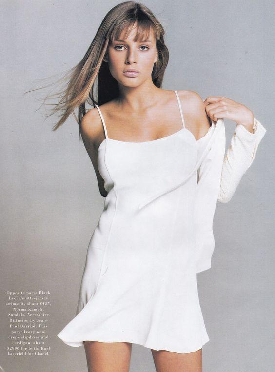 Harpers Bazaar US May 1994 Suits Photographer: Patrick Demarchelier Model: Bridget Hall Hair: Thom Priano Makeup: Laura Mercier