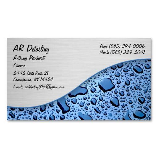 Automotive Business Cards | Auto Detailing Business Cards ...