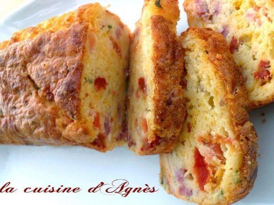 Recette Entrée : Cake cheddar mimolette bacon par Agnes.f
