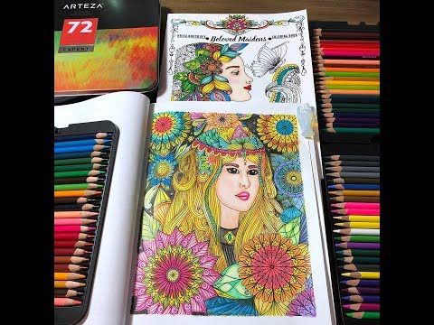 2 Coloring In My Beloved Maidens Coloring Book Kcdoodleart Youtube Coloring Books Color Maiden